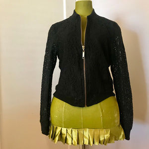 Ashley by 26 International Black Lace Jacket, sz M